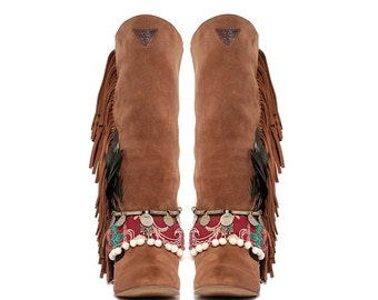 Layer Boots - Fringe Tribal
