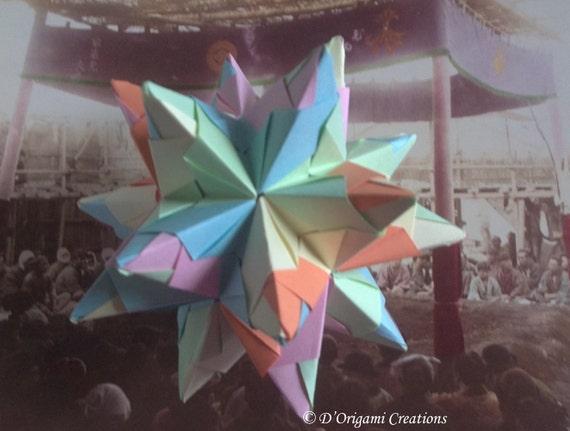 origami star toile 3d papier origami modulaire pliage par dorigami. Black Bedroom Furniture Sets. Home Design Ideas