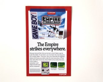 Vintage Game Boy Empire Strikes Back ad advertising 90s 1992 Star wars