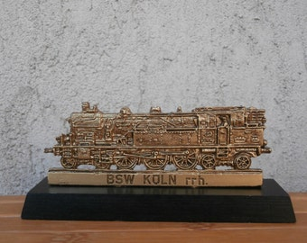 Collectible DB Steam Locomotive, Bronze Realistic Model, German Rail DB 78012, Made by H. Kissing