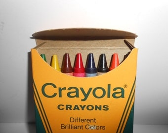 "Vintage Crayola Crayons 8 Pack New Unused Made In Easton Pa 3 5/8"" x 5/16"""