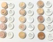 Liquid Cream Mineral Foundation - Vegan Makeup Samples and Full Size Pump Bottle
