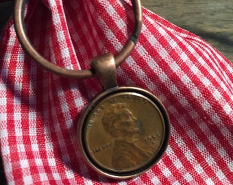 1953 Penny Keychain - Antique Copper