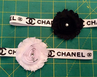 Handmade CC baby elastic headband! Your  Choice of color