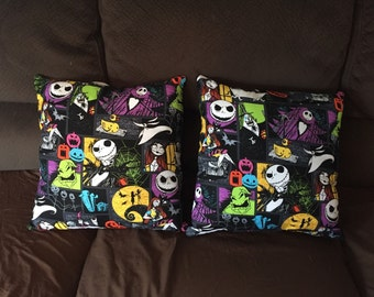 "Handmade ""The Nightmare Before Christmas"" Throw Pillow!"