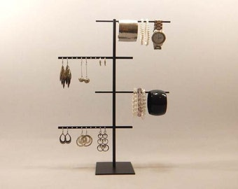 Bracelet Display, Earring Organizer, Earring Stand, Jewelry Display, Bracelet Organizer, Earring Display, Jewelry Stand, Black Display 116
