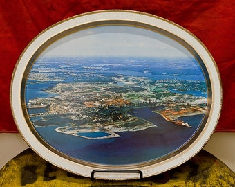 1970s Bethlehem Steel Sparrows Point commemorative tray Baltimore Maryland