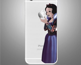 Tattoo Snow White Iphone 7 sticker removable Vinyl Sticker Skin Decal Cover
