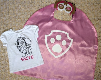 Color Me t-shirt and matching cape/mask