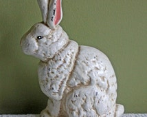 Door Stopper. Cast Iron Door Stopper Shaped as Rabbit. Rustic Door Holding Device or Wall Hanging Decor Made of Cast Iron.