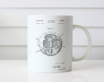 Earth Satellite Patent Mug, Outer Space Mug, NASA Mug, Space Mug, PP0052