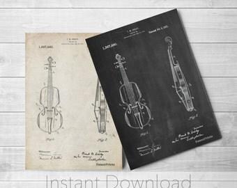 Violin Printables, Stringed Instruments, Violin Art, Violinist, Orchestra, Symphony, Musician Gift, PP0853