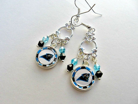 carolina panther jewelry nfl carolina panthers football earrings 4359