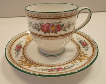 Wedgwood Columbia Bone China tea cup and saucer set