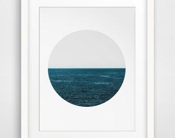 Sea Photography, Ocean Photography, Ocean, Sea Print, Sea Print, Ocean Print, Navy Ocean, Navy Sea, Minimalist Photography