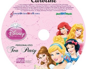 Personalized Disney Princesses CD.  All of the Disney Princesses will sing and talk to your child using their name throughout the 23 tracks!