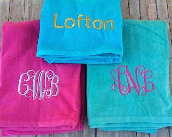 Monogrammed Beach Towel, monogrammed towel, monogram towel, towel, beach towel, personalized towel, monogram, personalized, beach towel