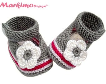 Baby shoes ballerina shoe girl Mary Janes baby shoe Sarah white pink grey
