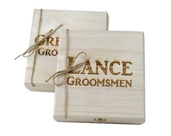 Groomsmen Gift, Wood Cigar Box, Cigar Box, Gifts for Him, Keepsake Box, Cool Groomsmen Gift, Groomsmen Gift Box, Personalized Gift, Gift Box
