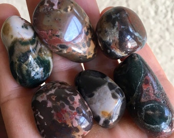 6pc Top Quality 75g Polished Multicolor Jasper Set - Brazil - Item:JS16224