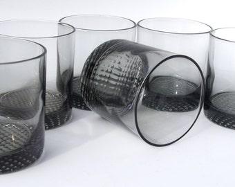 Smoked Gray Whiskey Glasses - Set of 6
