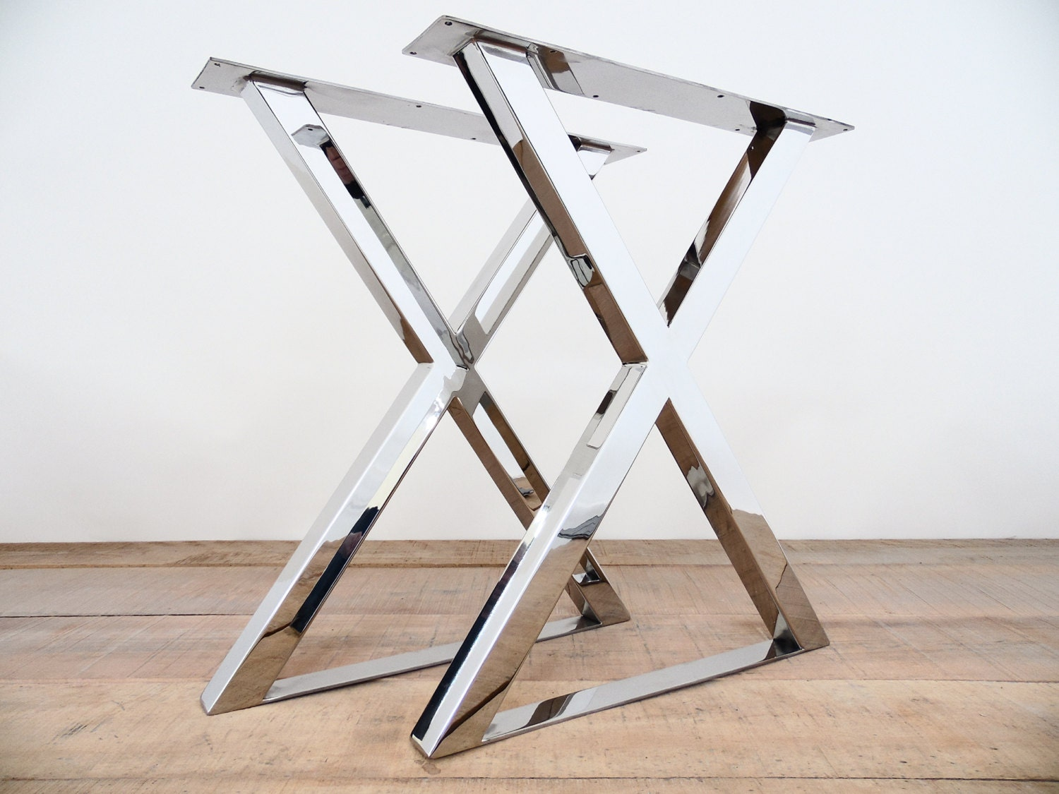 28 H X 20w X Frame Table Legs Stainless Steel