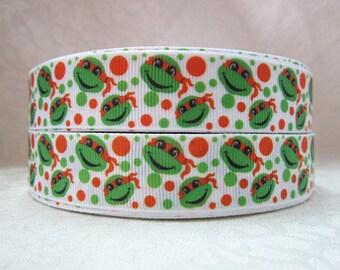 "7/8"" wide 15 yards Michelangelo Orange Ninja Turble ribbon/ Party favor/ decoration"