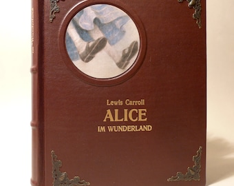 Alice In Wonderland - Lewis Carroll - leather cover - leather bound - book - children's books - classics