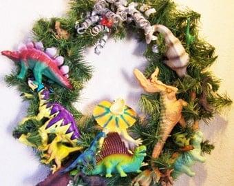 Dinosaur Holiday Wreath