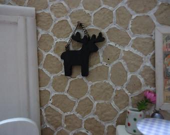 miniature deer shaped chalkboard  1:12 scale
