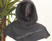 Hood < Cowl neck hood , hoodie Fleece or Linen , For men , women or teens , hoodie ,renaissance garb , machine washable ,
