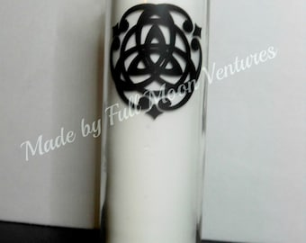 Triquetra seven day alter candle