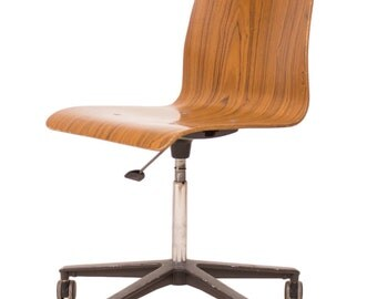 Bent Ply Pneumatic Adjustable Office Swivel Chair G Plan Eames Era