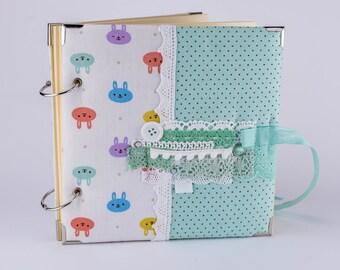 LOW PRICE!!  Photo album for baby, Baby album, Scrapbook album, Handmade album, Album
