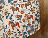 Dala Horse Fabric Swedish Horse Kitchen Towel Dala Horse Tea Towel Scandinavian Folk Art Dish Towel Dala Horse Towel Gift For Horse Lover