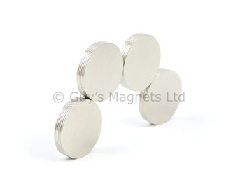 15mm x 0.5mm strong N35 neodymium round circular disk magnets ideal for magnetic card closures GuysMagnets