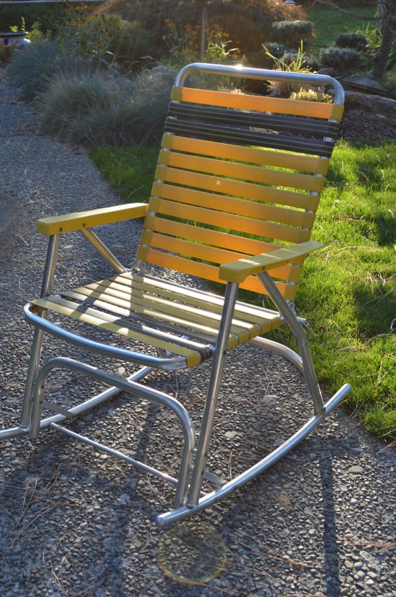 items similar to webbed lawn rocking chair cing lawn