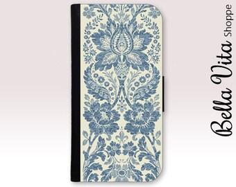 iPhone 6 Wallet Case, Monogrammed Chevron iPhone 6 6 Plus Wallet Case Leather 1019