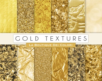 Gold digital paper, gold background, gold glitter, golden flakes, gold leaf, tinsel, sparkles for Commercial Use
