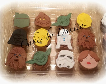 Star Wars Cupcake Toppers - Fondant