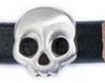 Regaliz Metals Skull Motif Antique Silver