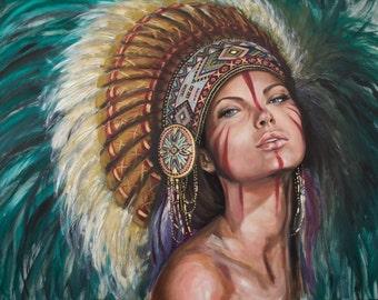 Sioux by Marisa Jiménez LIMITED EDITION 1/100.