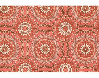 CLEARANCE - Bungalow - Doily Coral by Joel Dewberry for Free Spirit Fabrics, 1/2 yard, PWJD075.Coral