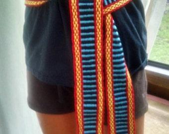 Handwoven tie belt sash in colors