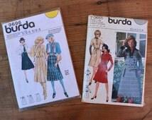 Vintage sewing pattern burda tutorial set of 2 Skirt pattern dress pattern vintage fashion 70s fashion unused nos