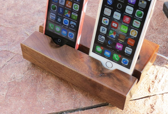 Dual iPhone Docking Station - Locking Cable - ONE of a Kind