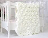 Crochet PATTERN 33 - Viola - Baby Blanket PATTERN - Cream Color - Instant Download