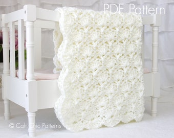 Crochet PATTERN 33 - Viola - Baby Blanket PATTERN - Cream Color - Instant Download