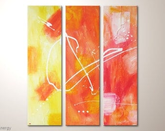 "Fine art painting: ""Energy"" - modern abstract artwork on canvas-contemporary wall decoration- design - colorful home decor"