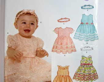New Look 6575 Baby Dress Sizes New Born To Large